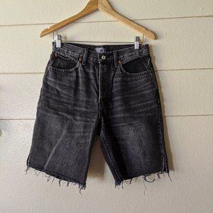 """Abecrombie and Fitch 9"""" Denim Washed Black Shorts"""
